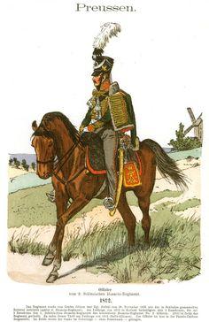 Knötel-Tafel 07/9  Preußen. Offizier vom 2. Schlesischen Husaren-Regiment (Nr. 6). 1812.