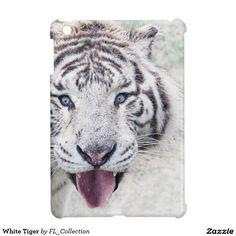 White Tiger iPad Mini Cases