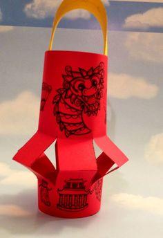 Chinese New Year Lantern for Kids Chinese New Year Lantern Pattern by Robin Sellers Chinese New Year Crafts For Kids, Chinese New Year Activities, New Years Activities, Activities For Kids, Classroom Activities, Chineese New Year, New Year's Crafts, China Crafts, New Years Hat
