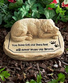 Dog Memorial Stone For Pet Dog Grave Marker Paw Prints in Pet Supplies, Pet Memorials & Urns | eBay