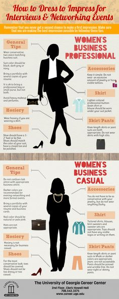 A guide for women on #BusinessCasual & #BusinessProfessional attire.   #DressForSuccess