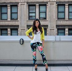 Floral Pants & Neon! #fashion #style #neon