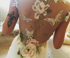 Oh this stunning back detail | Maria wearing 'PAPILLON' wedding dress http://couture.clairepettibone.com/collections/continuing-collection/products/papillon