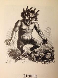 Demon Deumus from Collin de Plancy's 'Dictionnaire Infernal' (Louis Le Breton).