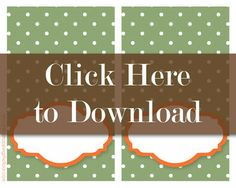 Free printable Thanksgiving Placecards. Two coordinating patterns. Would be super cute as food labels, too.