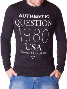 Bluza barbati Aythentic 1980 neagra Design Agency, 1980, This Or That Questions, Interior Design, Sweatshirts, Sweaters, Fashion, Nest Design, Moda