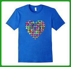 Mens Cool Heart of Retro Peace Signs Happy Love t-shirt Large Royal Blue - Retro shirts (*Amazon Partner-Link)