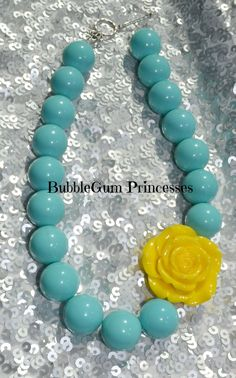 Chunky BubbleGum bead necklace Tiffany BLUE by BubbleGumPrincesses, $18.00