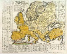 Europa Polyglotta, Linguarum Genealogiam exhibens, una cum Literis, Scribendique modis, Omnium Gentium, by Gottfried Hensel, 1730