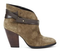 "The dip in the front will make them more flattering on your leg than a straight across bootie - Sole Society ""Skylar"", $89.95"