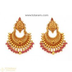 Totaram Jewelers Online Indian Gold Jewelry store to buy Gold Jewellery and Diamond Jewelry. Buy Indian Gold Jewellery like Gold Chains, Gold Pendants, Gold Rings, Gold bangles, Gold Kada Chand Bali Earrings Gold, Gold Jhumka Earrings, Gold Mangalsutra, Jewelry Design Earrings, Gold Earrings Designs, Gold Drop Earrings, Indian Earrings, Craft Jewelry, Antique Earrings
