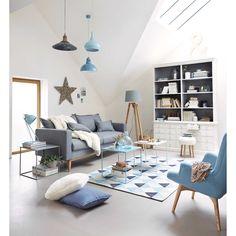 Lampada blu pastello in metallo H 53 cm ZIGGY | Maisons du Monde