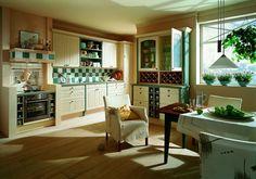 Kuchnia angielska - białe, stylizowane meble