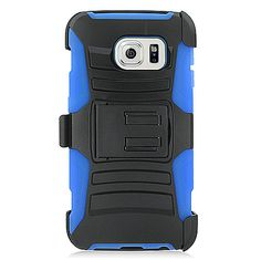 Blue Armor Rugged Holster Combo Cover Belt Clip  for Samsung Galaxy S6 Edge #UnbrandedGeneric