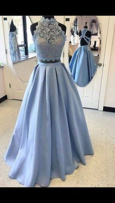 Robe bleu 2 pieces