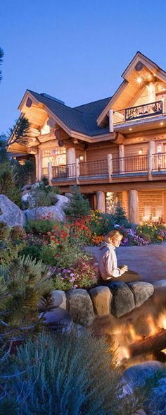 Stunning handcrafted log home