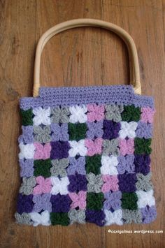 Crochet flowers bag / Bolso de flores de ganchillo