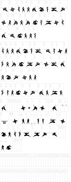 Ninjas Font   dafont.com Use for the party invitations.