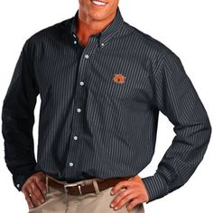 Antigua Auburn Tigers Class Long Sleeve Button-Down Shirt - Navy Blue @Fanatics #FanaticsWishList