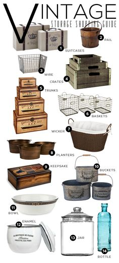 I have a obsession with organization! Vintage Storage and Organization Ideas Cocina Shabby Chic, Deco Retro, Vintage Storage, Industrial Chic, Vintage Industrial Decor, Industrial Interiors, Industrial Lighting, Vintage Wood, Industrial Design
