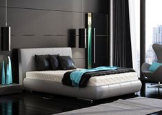 fresh-modern-designs-from-marcin-pajak-black-bedroom-turquoise-modern-turquoise-bedroom-design-ideas.jpg (916×650)