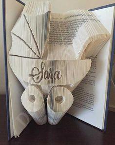 Personalised Pram Combi Cut and Fold Book Folding Pattern