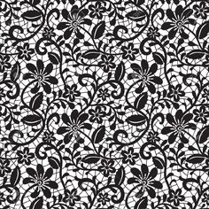 Black Seamless Lace Pattern On White Background Royalty Free Cliparts, Vectors, And Stock Illustration. Image 15307026.