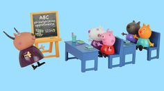 #Peppapig #school English #Numbers Episode Learn to count for children baby