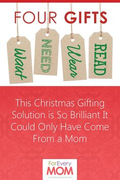 Only four gifts for christmas