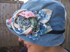Spring Bouquet Floral Denim Hat