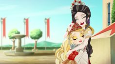 Mother and daughter ~ Ever After High Dragon Games