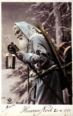 What's that peeking out from beneath his robe? A noose?!? (Mashable: Late 19th-early 20th century: Bad Santas)