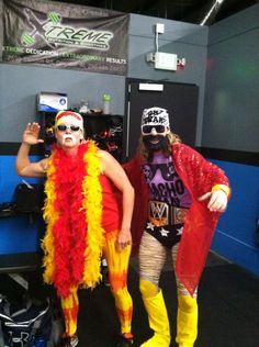 Hulk Hogan and Macho Man Randy Savage Halloween costumes