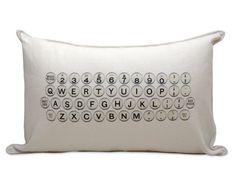 typewriter pillow by pi'lo studio