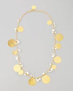 Pastilles Pearl Necklace by Herve Van Der Straeten at Neiman Marcus.