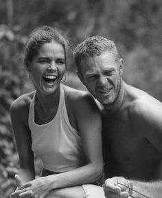 Ali MacGraw and Steve McQueen.