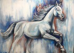 Horse/acrylic paint 70x50cm/