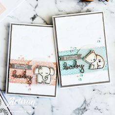 Babykarten The Stamping Blok Stampin Up Karten, Karten Diy, Stampin Up Cards, Baby Boy Or Girl, New Baby Boys, Scrapbooking, Scrapbook Paper, Cloud Stencil, Baby Accessoires