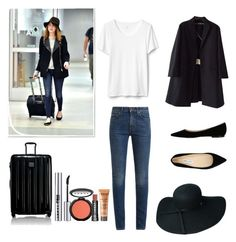 """""""Untitled #124"""" by cazacubianca on Polyvore featuring Yves Saint Laurent, Rochas, Jimmy Choo, Tumi and LORAC"""