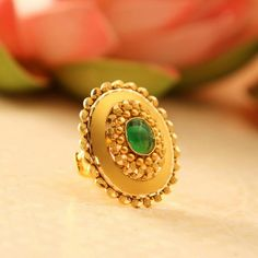 Antique Jewellery Designs, Gold Ring Designs, Gold Bangles Design, Gold Earrings Designs, Necklace Designs, Gold Rings Jewelry, Hand Jewelry, India Jewelry, Gold Finger Rings