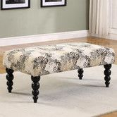 Found it at Wayfair - Linon Claire Butterfly Print Upholstered Bench
