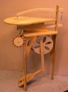 Rick Hutcheson's homemade treadle scroll saw.