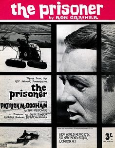 #Sixties | Sheet music for the theme of The Prisoner, by Ron Grainer