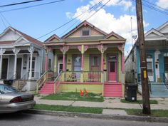 When you walk the streets of New Orleans, you might as well be walking on sunshine. Take this virtual tour past the fancy facades of treasured neighborhoods like the Bywater and the Garden District, then Follow Your NOLA to bop amongst these bright beauties for yourself! New Orleans Architecture, Low Country Homes, Outside Paint, Shotgun House, First Home Buyer, New Orleans French Quarter, New Orleans Homes, Exterior Paint Colors, Gothic House