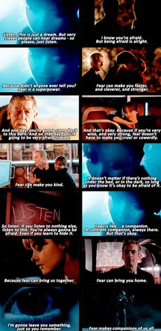 """""""Fear is a superpower."""" Listen, Doctor Who. [gif set] This is one my favorite episodes... Ever."""