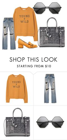"""1000 Followers!!!"" by sunsetlvrs ❤ liked on Polyvore featuring MANGO, Jonathan Simkhai, Yves Saint Laurent and Gucci"
