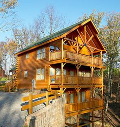 Related keywords suggestions for tennessee cabins for Three story log cabin