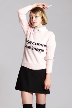 - Crew neck soft pink bunny hair sweater - 55% Viscose, 40% Nylon, 5% Angora *Model is 5'7'' & wearing a size S