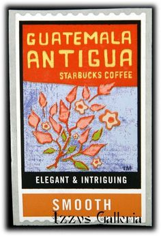 Starbucks Coffee RARE Retired Guatemala Antigua Smooth Stamps Stickers RARE | eBay