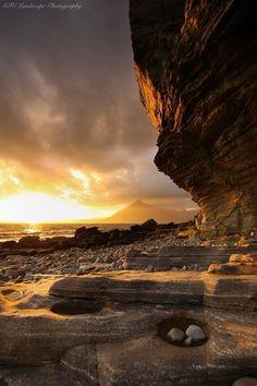 Sunlight's fading glory from Elgol, Isle of Skye, Scotland